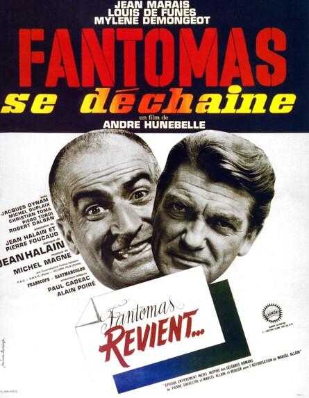 FANTOMAS SE DECHAINE - BOX OFFICE JEAN MARAIS 1965