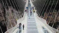 Un pont en verre en chine!!