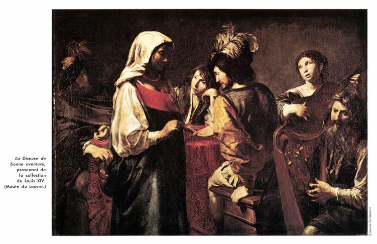 Diseuse de bonne aventure de Valentin de Boulogne (Louvre)