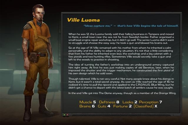 La plupart de ces caractères et leurs descriptions seront ajoutés au C.R.O.N.U.S. superordinateur et pourrait être trouvé dans le jeu