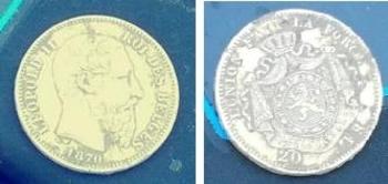 Monnaie 20 frs OR Léopold 2