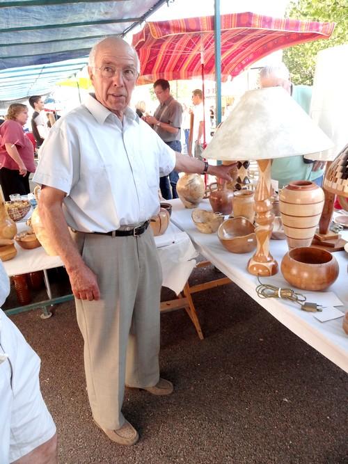 Encore de très belles réalisations de Jean Glace, tourneur sur bois à Laignes...