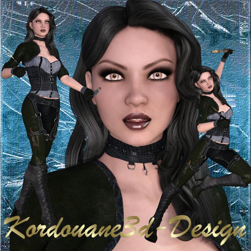Lara : 3 tubes de fille gothique (image-png)