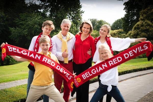 Coupe du monde avec la famille royale belge