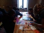 Atelier vitrail à Brancion