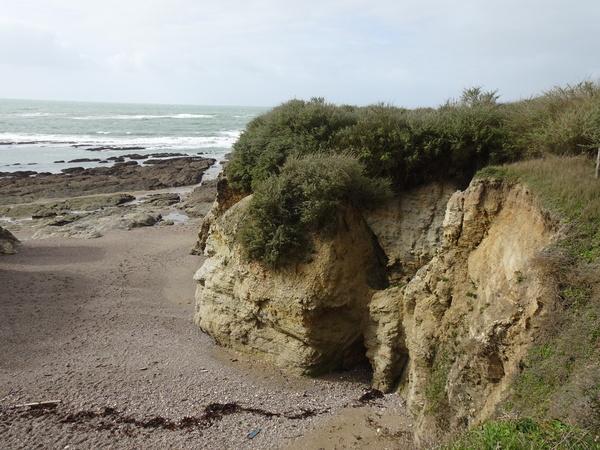 Erosion des rochers à marée basse à Piriac