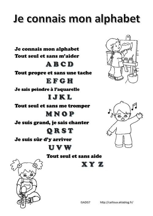 Je connais mon alphabet