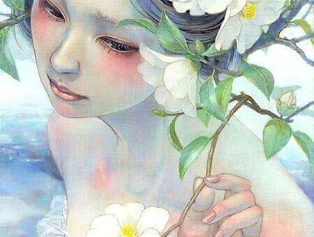 femme et fleurs
