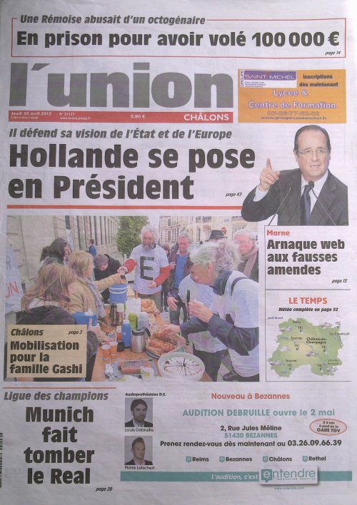 édition du 25 avril 2012