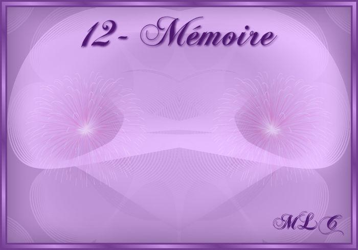 12 - Mémoire