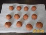 Les truffes choco'noisette à la pistache