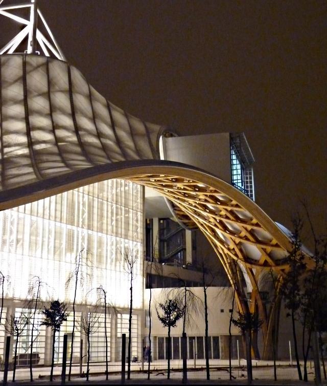 Centre Pompidou Metz neige nuit 16 20 12 09