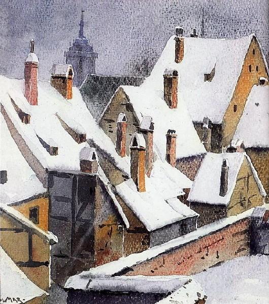 Colmar : Les toits redessinés par l'hiver