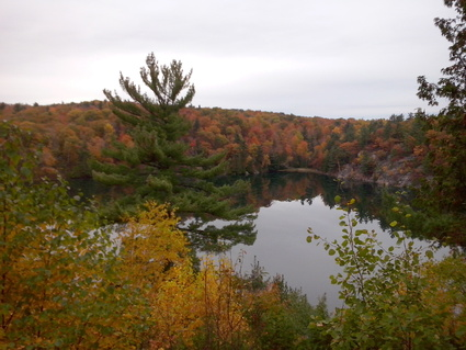 Pink Lake in Gatineau Park on October 13, 2014