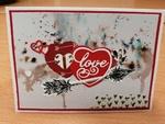 Scrap-  Carte St Valentin et poudre de Brushos
