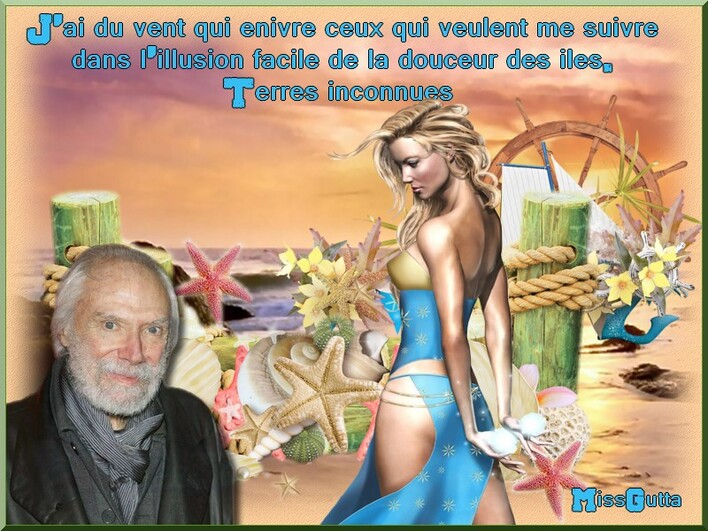 """Défi partage pour Manik """" La mer m'a donné """" Georges moustaki"""