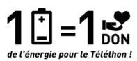 """""""1 pile = 1 don, de l'énergie pour le Téléthon"""""""