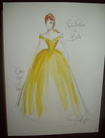 Belle - Original Once Upon A Time costume sketch by Eduardo Castro:
