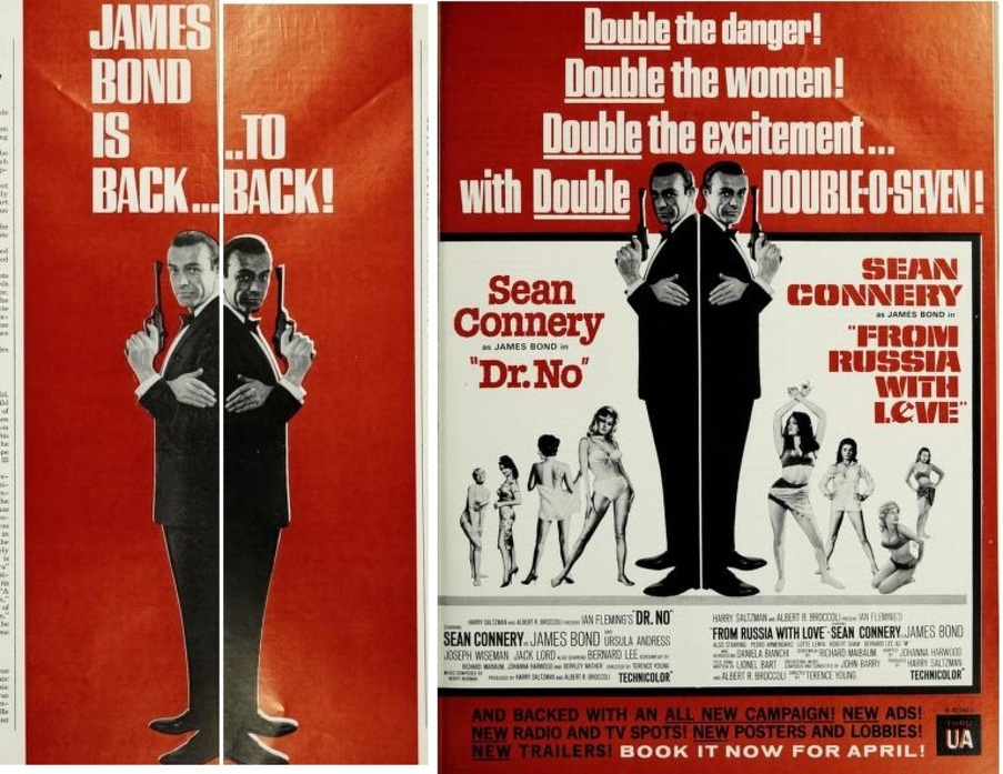 DR NO / FROM RUSSIA WITH LOVE BOX OFFICE USA 1965