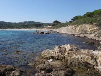 La plage des Salins vue depuis le monument d'E. Ollivier