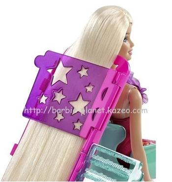 Barbie Studio Relooking Coiffure, pochoir en forme d'étoile