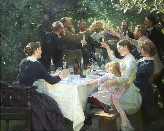 Hip, Hip, Hurrah!, 1888, Peder Severin Krøyer.