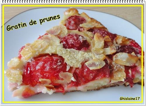 Gratin de prunes