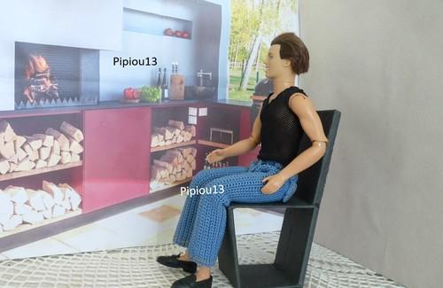 Studio-photos Barbie: salon de jardin