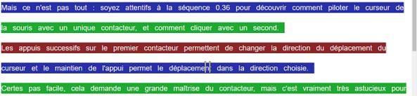 Texte en couleur : service en ligne du Cartable Fantastique