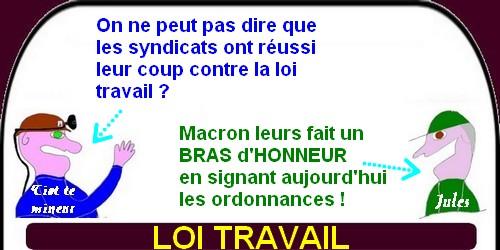 Macron fait un bras d'honneur aux syndicats!