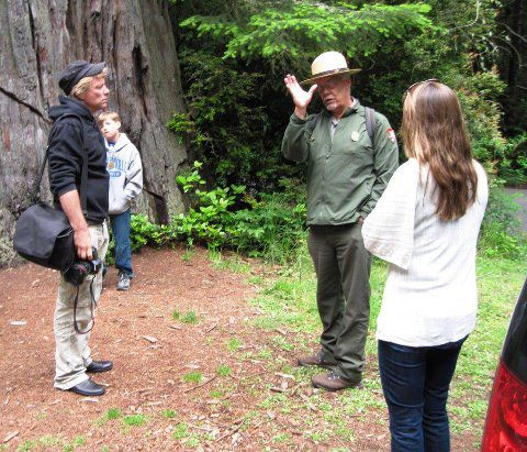 "jon bon jovi et sa famille en visite au ""REDWOOD NATIONAL AND STATE PARK"""
