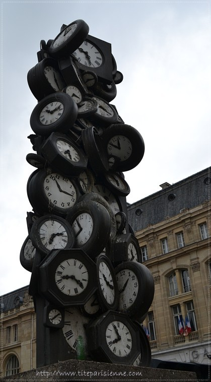 1 Sculpture horloges Saint Lazare 2