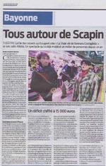 Article Sud-Ouest - Les crieurs publics au marché de Bayonne