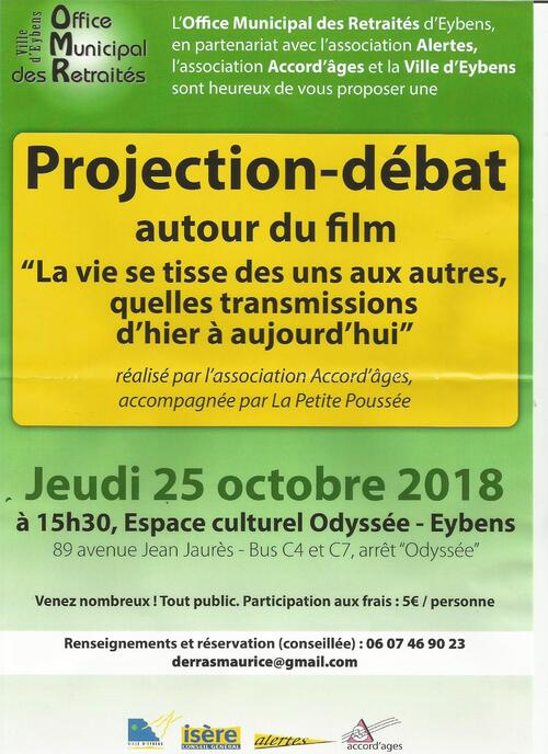 La Vie se tisse Projection Eybens (38) 25 octobre