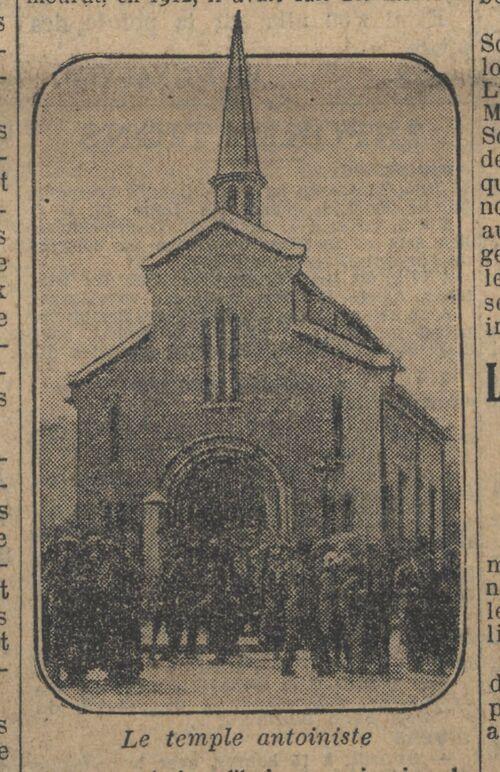 Le Temple - Cinq mille pèlerins célèbrent le culte d'Antoine le Guérisseur (Le Journal 26 juin 1924)