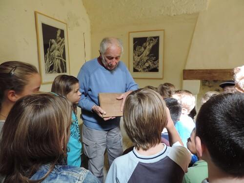 Visite de l'exposition de Michel Brigand