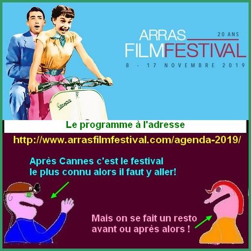 Arras film festival et autres loisirs ce week-end à Arras et ses environs.