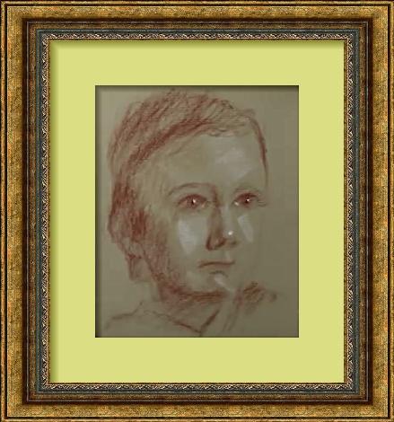 Dessin et peinture - vidéo 2587 : Portrait à main levée,  avec la technique du clair obscur
