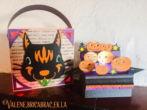 Halloween 2015 : un sac et un carte de SVGCuts