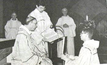 Maredsous - Le frère Stéphane d'Oultremont promu diacre.