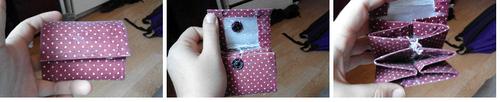 *Tuto originale: Créer un porte monnaie et un porte carte avec une brique