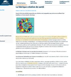 La fabrique de santé créative / CHU Nantes (44)