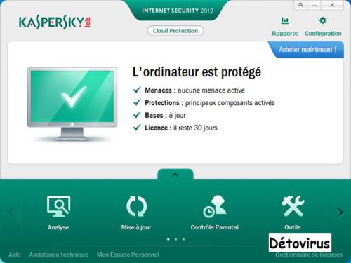 Kaspersky Internet Scurity 2012 gratuit 3 mois