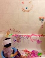 Peinture dans la baignoire