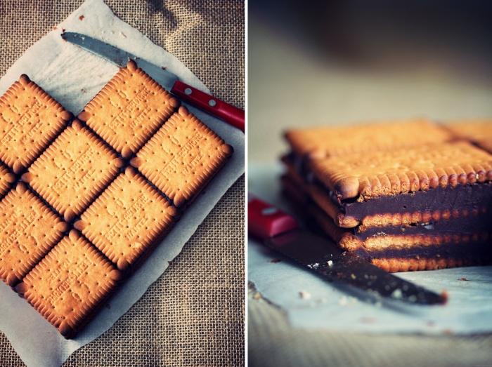 """""""Moka"""" de petits beurre {ganache au chocolat}"""