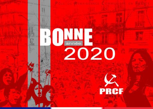 #BonneAnnée : les voeux 2020 du PRCF de combativité de santé et de solidarité !