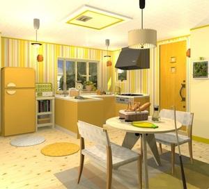 Jouer à Fruit kitchens 4 - Lemon yellow