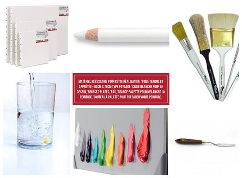 Dessin et peinture - vidéo 3532 : Comment peindre en 2 vidéos, les vagues et un paysage côtier ? - acrylique et huile.