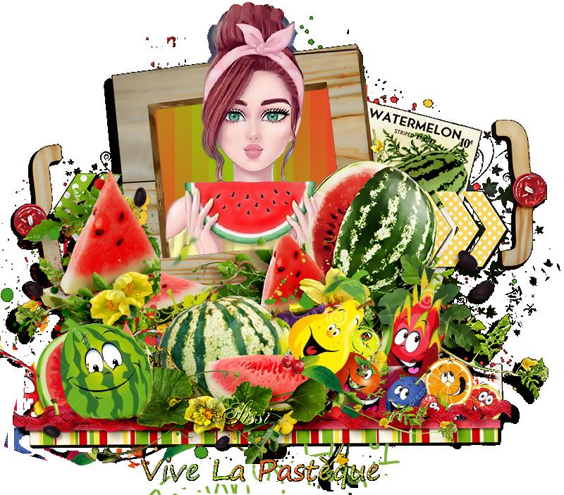 * La Pastèque le Fruit de l 'Eté *