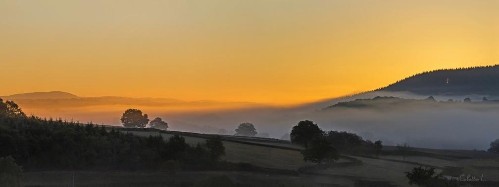 Lever de soleil sur le Morvan